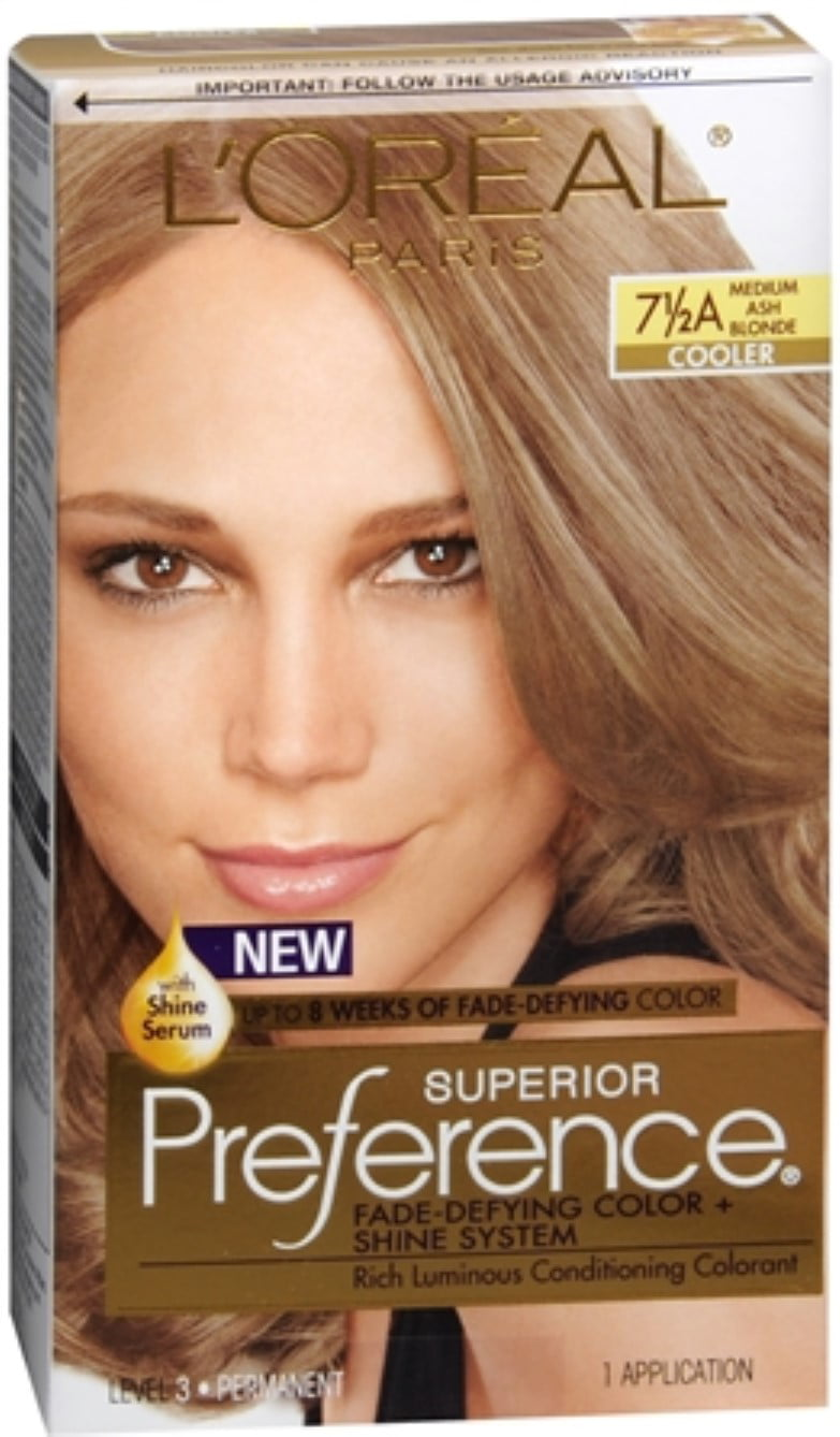 Loreal Superior Preference Hair Color 7 12a Medium Ash Blonde