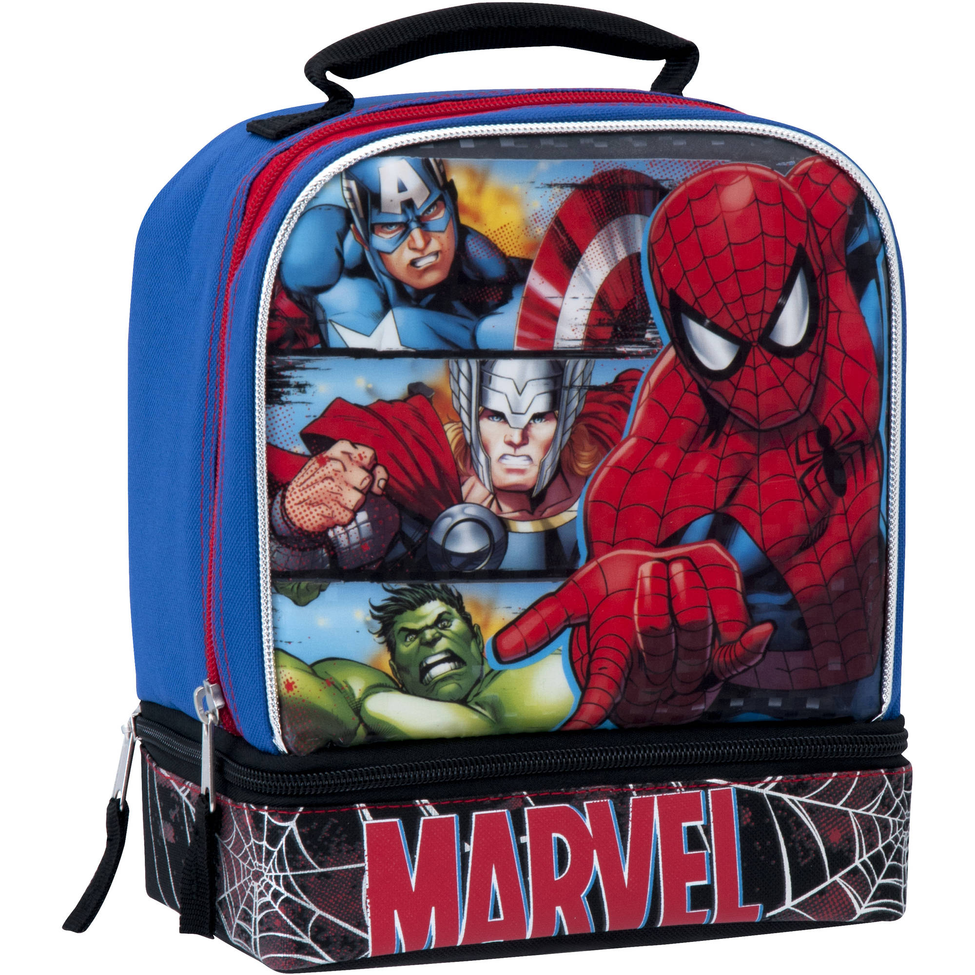 Marvel Universe Insulated Dual Compartment Lunch Bag