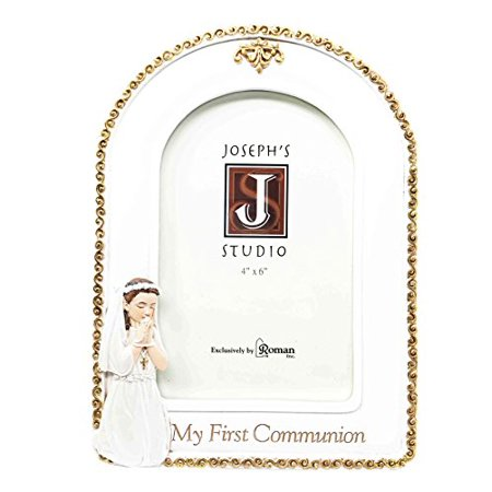 First Communion Girl Figurine (Lasting Memories First Communion Holy Sacrament For Child Girl Picture Frame Figurine 4