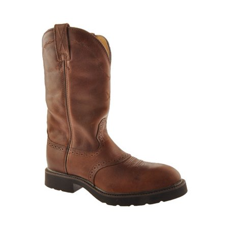 - Twisted X Work Boots Mens Leather Steel Toe 14 D Oiled Brown MSC0004