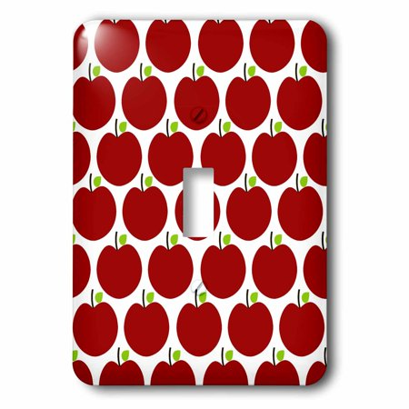 3dRose Red Apples fruit kitchen theme art, 2 Plug Outlet Cover
