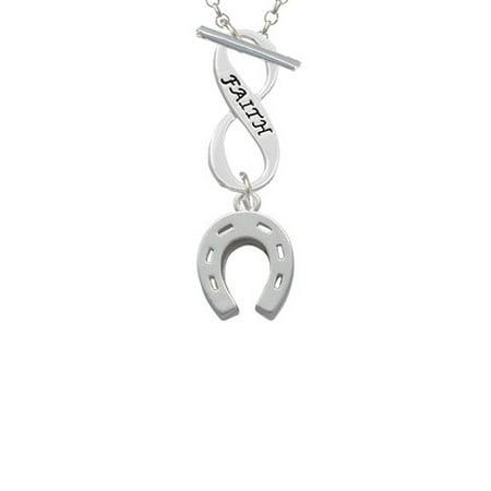 (Horseshoe Faith Infinity Toggle Chain Necklace)