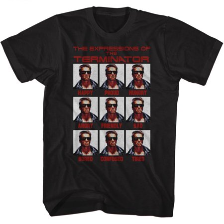Terminator Expressions Black Adult T-Shirt Tee - image 1 of 1