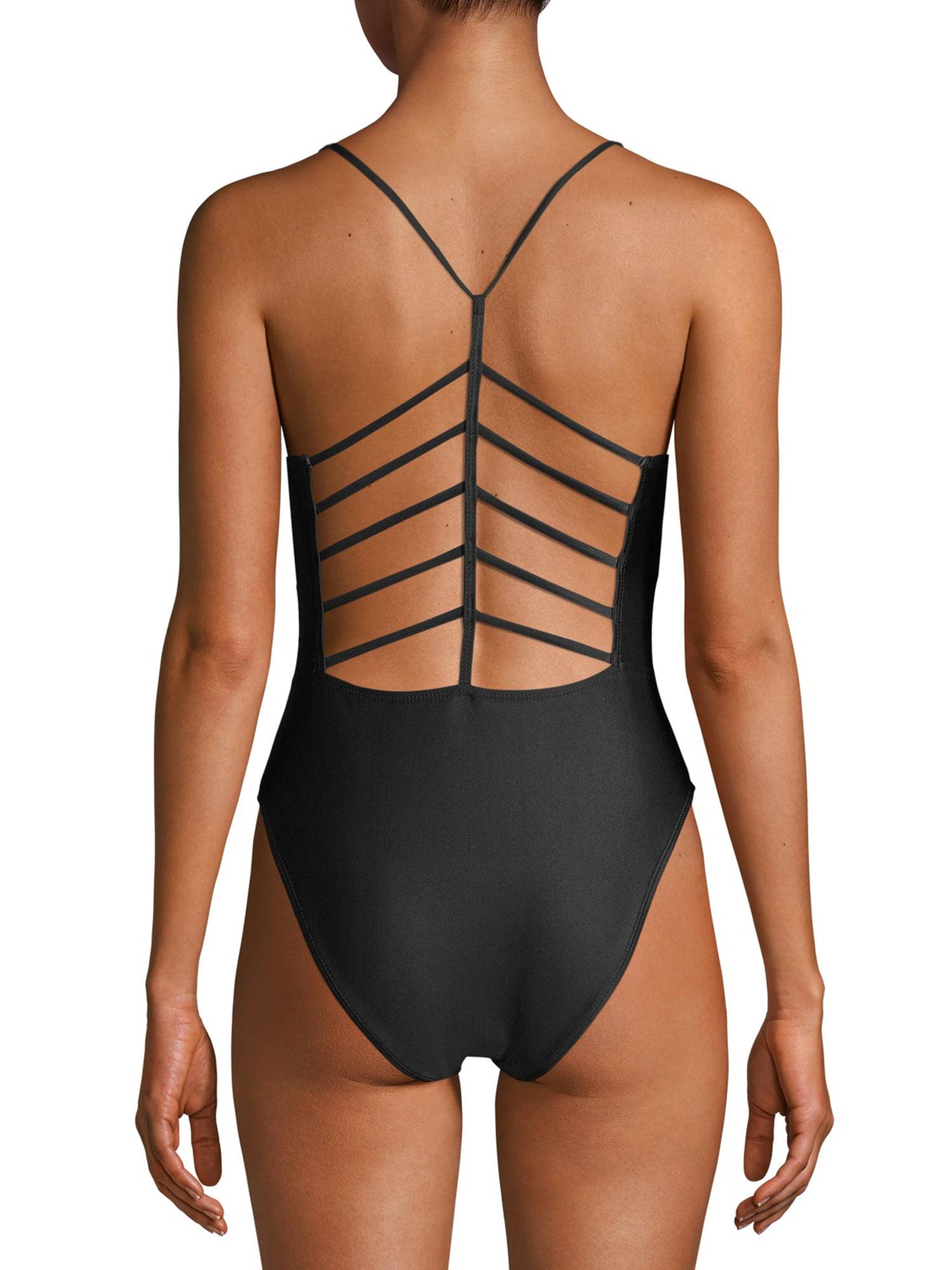 YMI Womens One-Piece Strappy Back Swimsuit