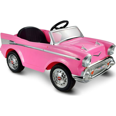 kid motorz chevy bel air 12 volt battery powered ride on pink
