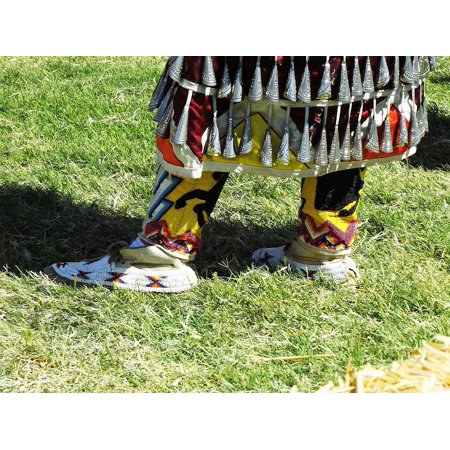 LAMINATED POSTER Beaded Traditional Native Moccasins Regalia Poster Print 24 x