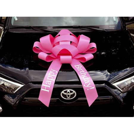 Giant Bows (CarBowz Big Pink Car Bow, Happy Birthday Bow, Giant 30
