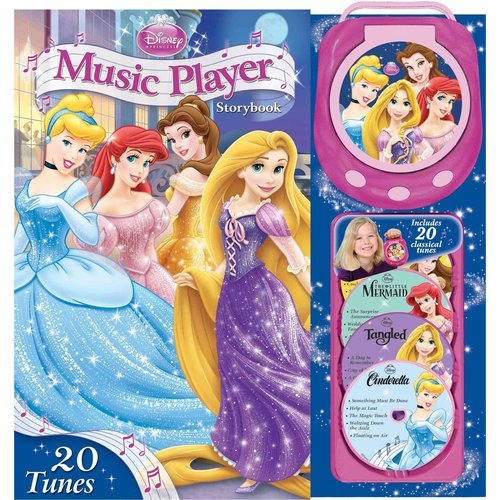 Disney Princess Music Player Storybook: Cinderella, Tangled, the Little Mermaid, Beauty and the Beast