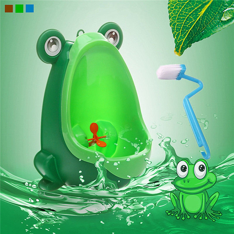 Jeteven Frog Boy Kids Baby Toilet Training Children Potty Pee Urine Home Bathroom for Children Child