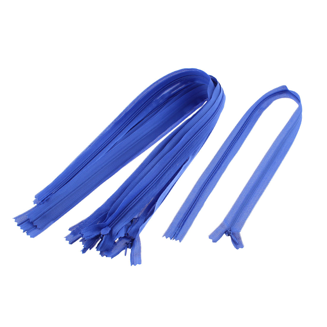 Black Nylon Coil Close End Zippers Tailor Sewing Tools 24-inch 10 Pcs