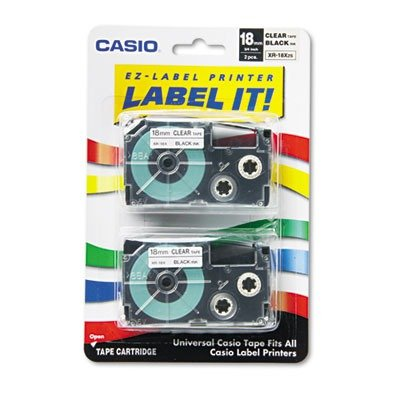 Casio XR18X2S - Casio Tape Cassettes for KL Label Makers