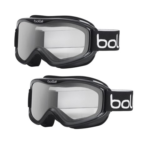 Bolle Mojo Ski Goggles with Shiny Black Frame and Clear Lens