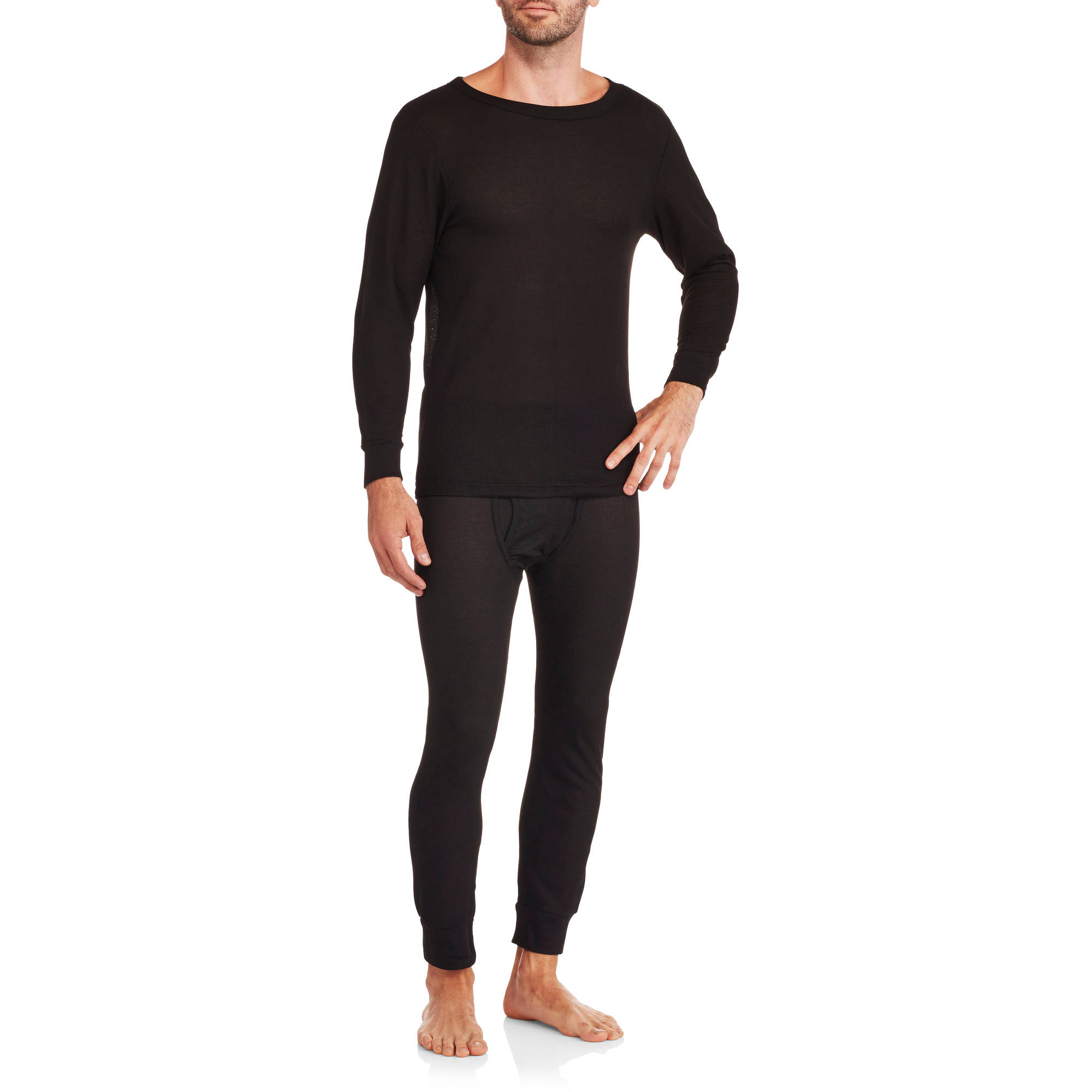 Men's Performance Wicking Thermal Top and Bottom Set