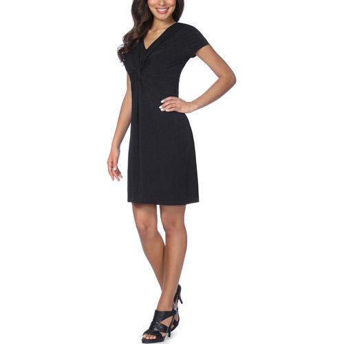 Slimpact - Womens Shaping Slimming  Jersey V-Neck Dress