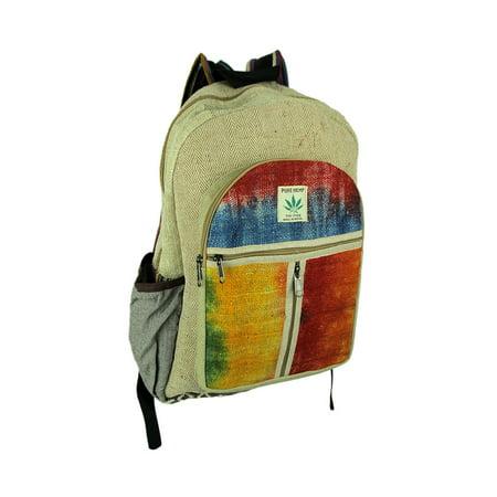 Hemp Tie (Festival Night Vibes Tie Dye Organic Hemp Backpack )