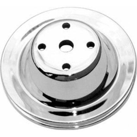 Racing Power Company R9604 Chrome Lwp Pulley For Small Block Chevy (Chrome Pulley)