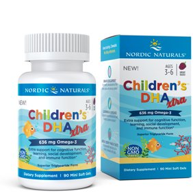 Nordic Naturals Children's DHA Xtra Mini Softgels, Berry, 636 Mg, 90 Ct