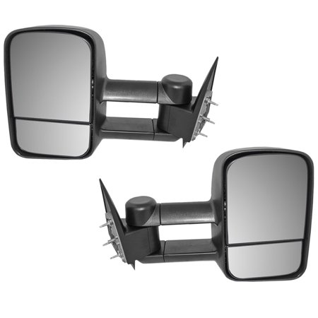 Driver and Passenger Manual Telescopic Tow Mirrors Performance Upgrade Replacement Chevy Cadillac GMC Pickup Truck GM1320416 (Chevy Truck Towing)