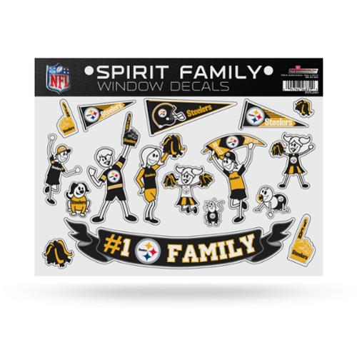 Pittsburgh Steelers Official NFL 11 inch x 11 inch  Large Family Car Decal Sheet by Rico Industries