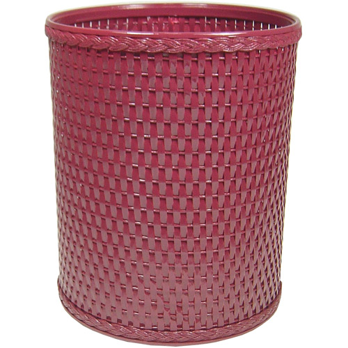 Chelsea Collection Decorator Color Round Wicker Wastebasket by Redmon