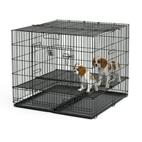"""Midwest Puppy Playpen with Plastic Pan and 1/2"""" Floor Grid"""