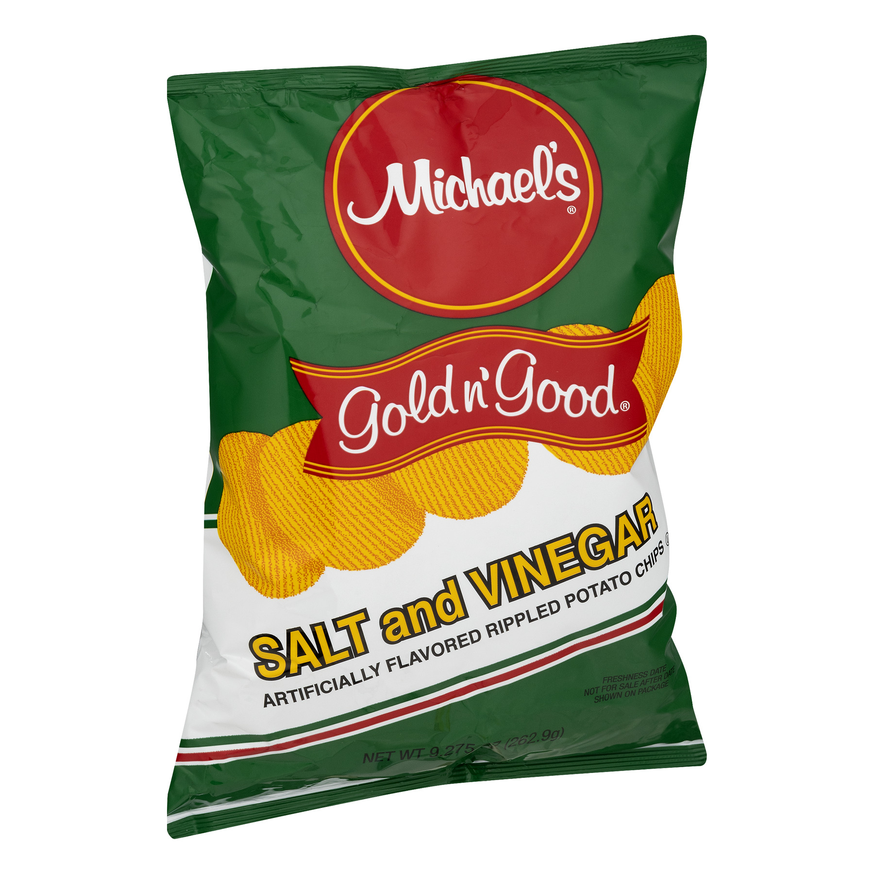 Michael\'s Gold n\' Good Potato Chips Salt and Vinegar, 9.275 OZ ...