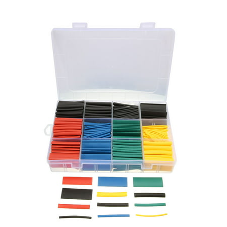 Dia Heat Shrink Tubing Platic Tube Electric Wire Wrap Sleeve 530 pcs