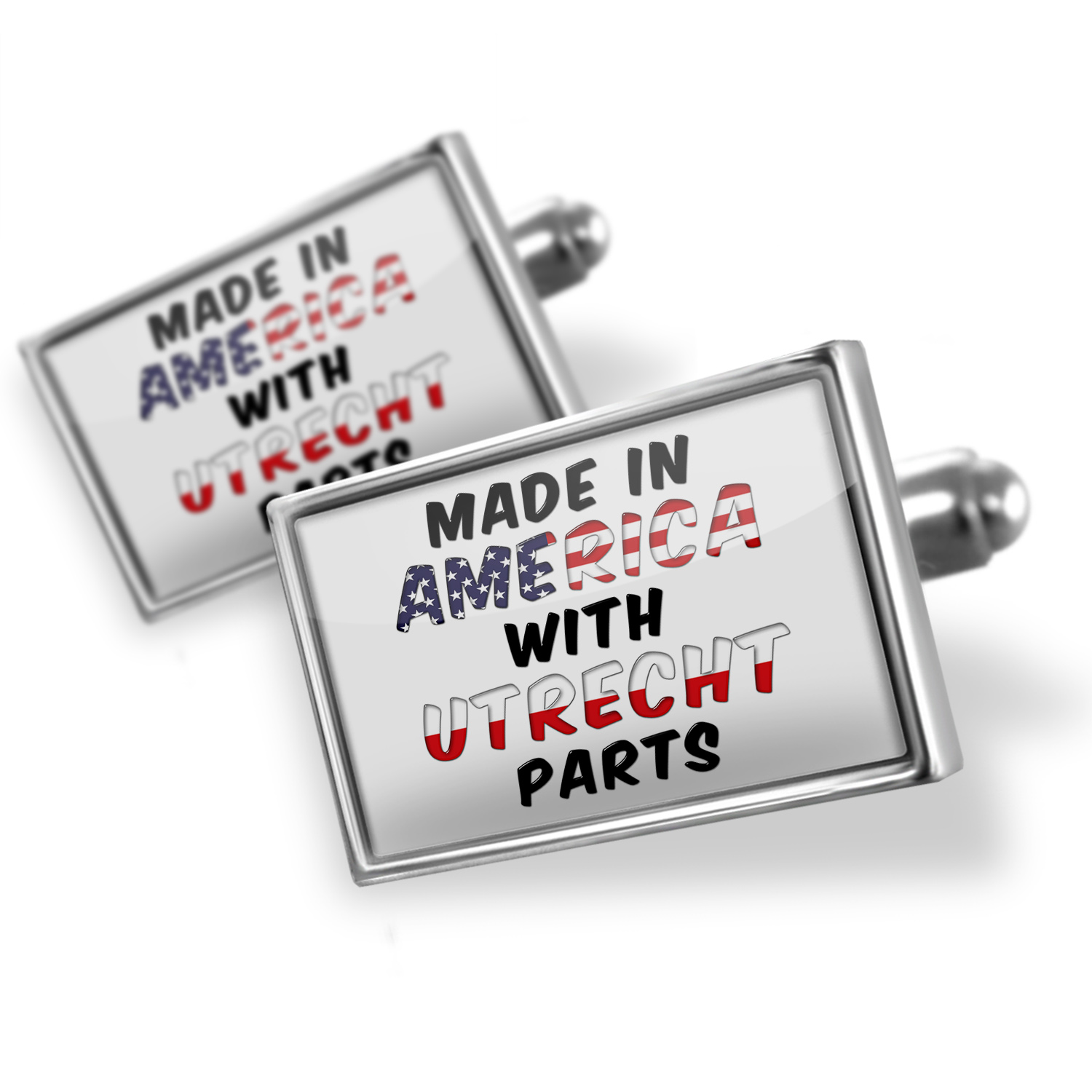 Cufflinks Made in America with Parts from Utrecht - NEONBLOND