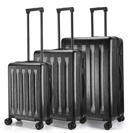 Keenstone Lightweight 3pcs Luggage Sets including 20''/24''/28''with TSA lock and integrated weight scale (Geek Luggage)