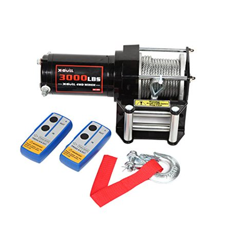 Steel Winch - X-BULL 12V 3000LBS/1360kg Winch Wireles Boat Electric Steel Cable 2 Remote ATV Kit