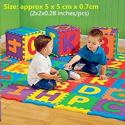 Puzzle Play Mazes Software - 36pcs Colorful Puzzle Kid Educational Toy Alphabet A-Z Letters Numeral Foam Play Mat self-assemble Baby Crawling Pad