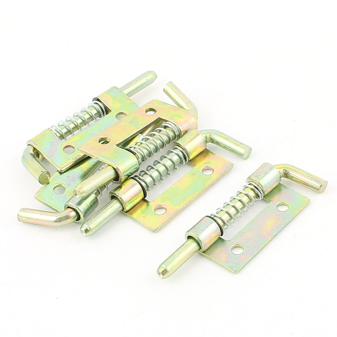 5pcs Locked Spring Loaded Metal Security Barrel Bolt Latch Bronze Tone