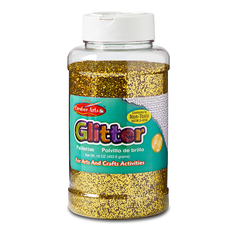 GLITTER 16 OZ BOTTLE GOLD