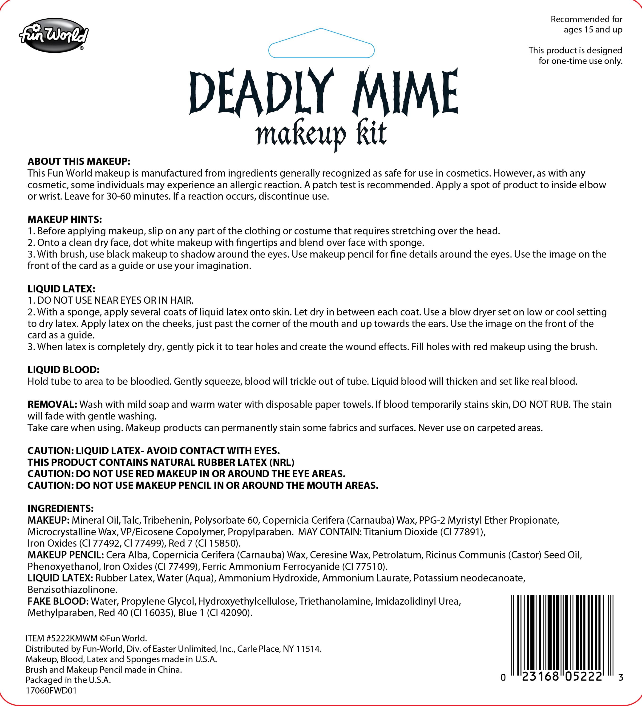 Mime Makeup Kit