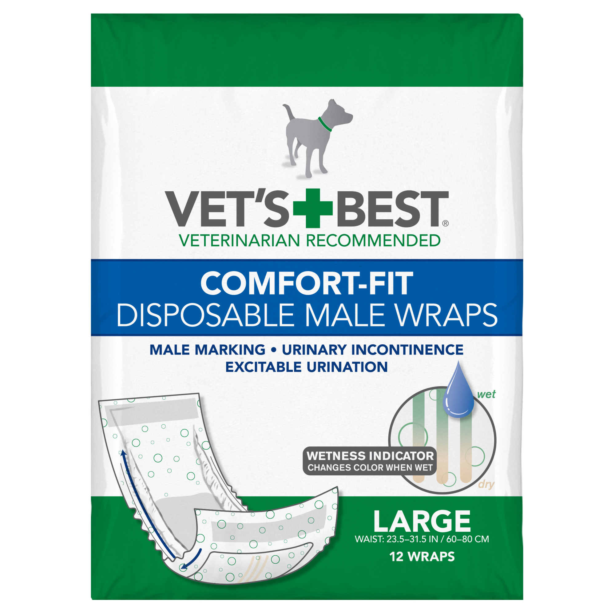 Absorbent Male Wraps with Leak Proof Fit