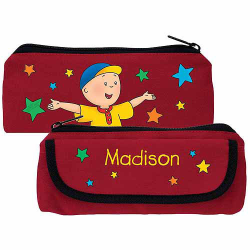 Personalized Caillou Starlight Red Pencil Case