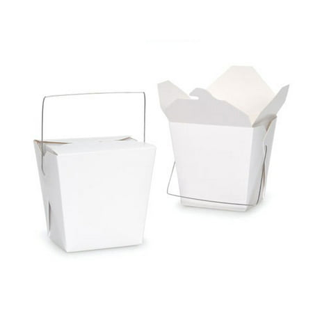 Chinese Take-Out / Noodle Boxes - Large - White - 26 oz