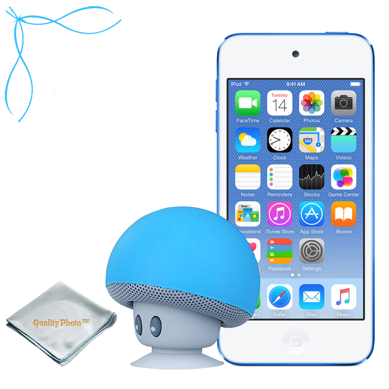Apple iPod Touch Gold 32GB (6th Generation) - Mushroom Bluetooth Wireless Speaker/iPod Stand - Quality Photo Cloth