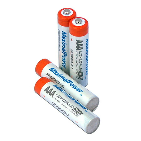 MaximalPower High Quality AAA 1.25v NiMH Rechargeable Batteries 4 Pack 1200mah Free Shipping High Capacity Nimh Rechargeable Batteries
