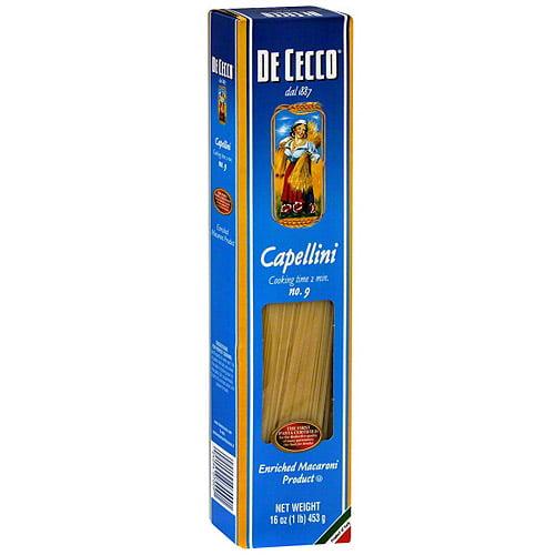 de cecco capellini pasta, 16 oz (pack of 20) - walmart