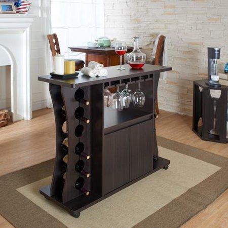 Furniture of America Tiko Modern Espresso Buffet with Wine Rack - Furniture Of America Tiko Modern Espresso Buffet With Wine Rack