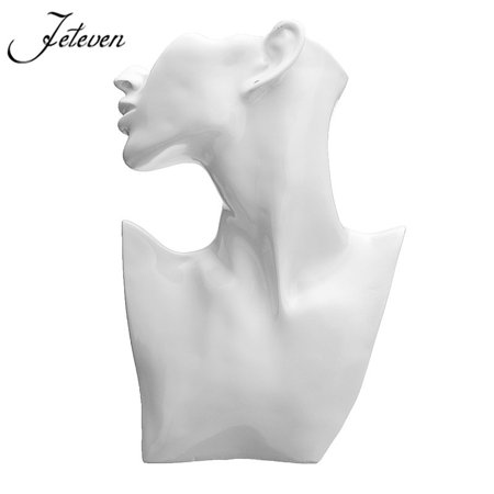 Jewelry Display White Resin Mannequin Necklace Earring Display Head Bust Stand Holder Rack Stand Organizer Holder