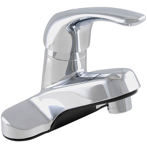 Exquisite Green Single-Handle Lavatory Faucet with Pop Up, Chrome