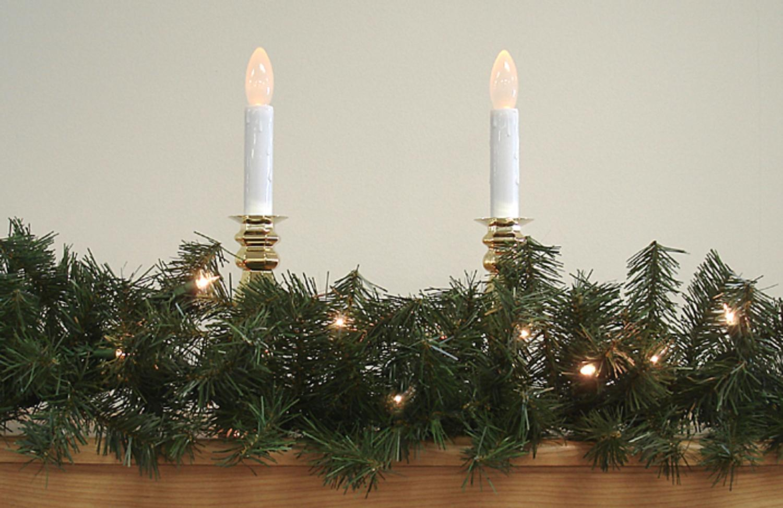 "9' x 8"" Pre-Lit Canadian Pine Artificial Christmas Garland - Clear Lights - Walmart.com"