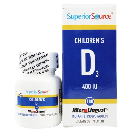 Superior Source - Children's Vitamin D3 Instant Dissolve 400 IU - 100 Tablets ()