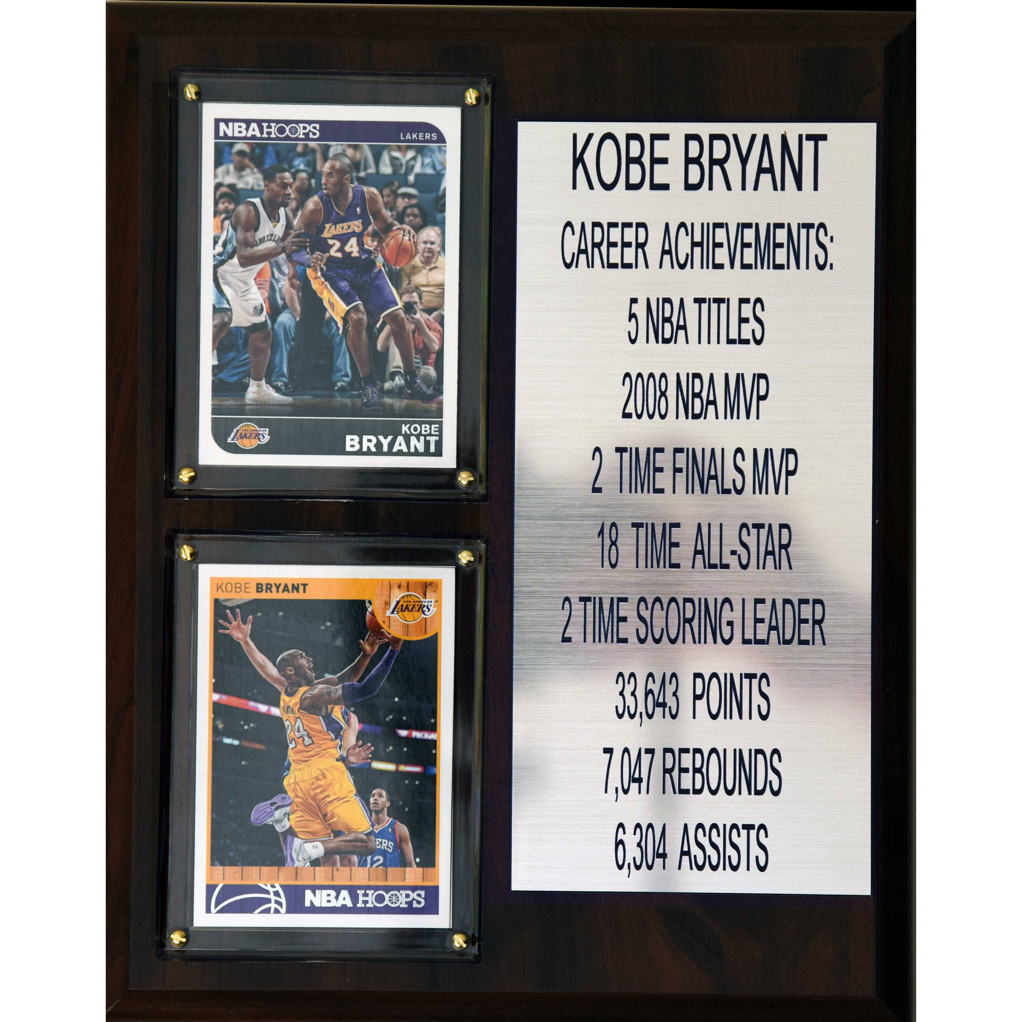 C&I Collectables NBA 8x10 Kobe Bryant Los Angeles Lakers Career Stat Plaque