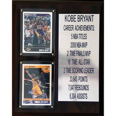 C Collectables Nba 8X10 Kobe Bryant Los Angeles Lakers Career Stat Plaque