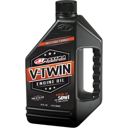 Suzuki V-twin (Maxima 30-07901 Pre-Evolution V-Twin Engine Oil - 50W - 1qt.)