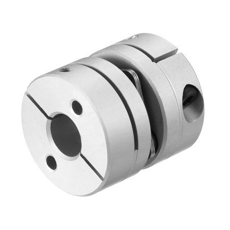 8mm One Way Gear - 8mm to 8mm Bore L26xD26 1 Diaphragm Motor Wheel Flexible Coupling Joint
