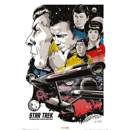"""Star Trek Classic - TV Show Poster / Print (50th Anniversary - Character Montage) (Size: 24"""" x 36"""")"""